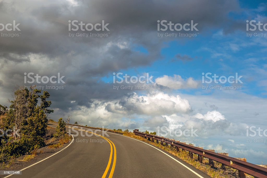 Chain of Craters Road stock photo
