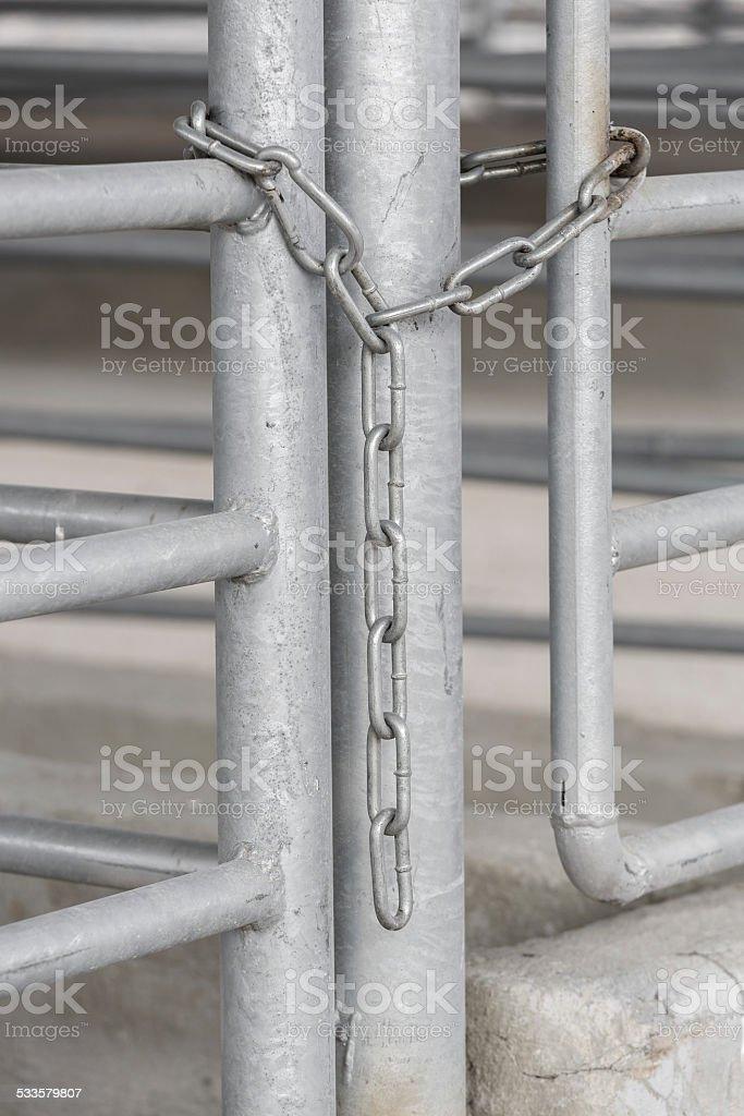 Chain on gates stock photo