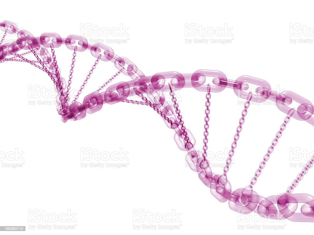 DNA Chain royalty-free stock photo