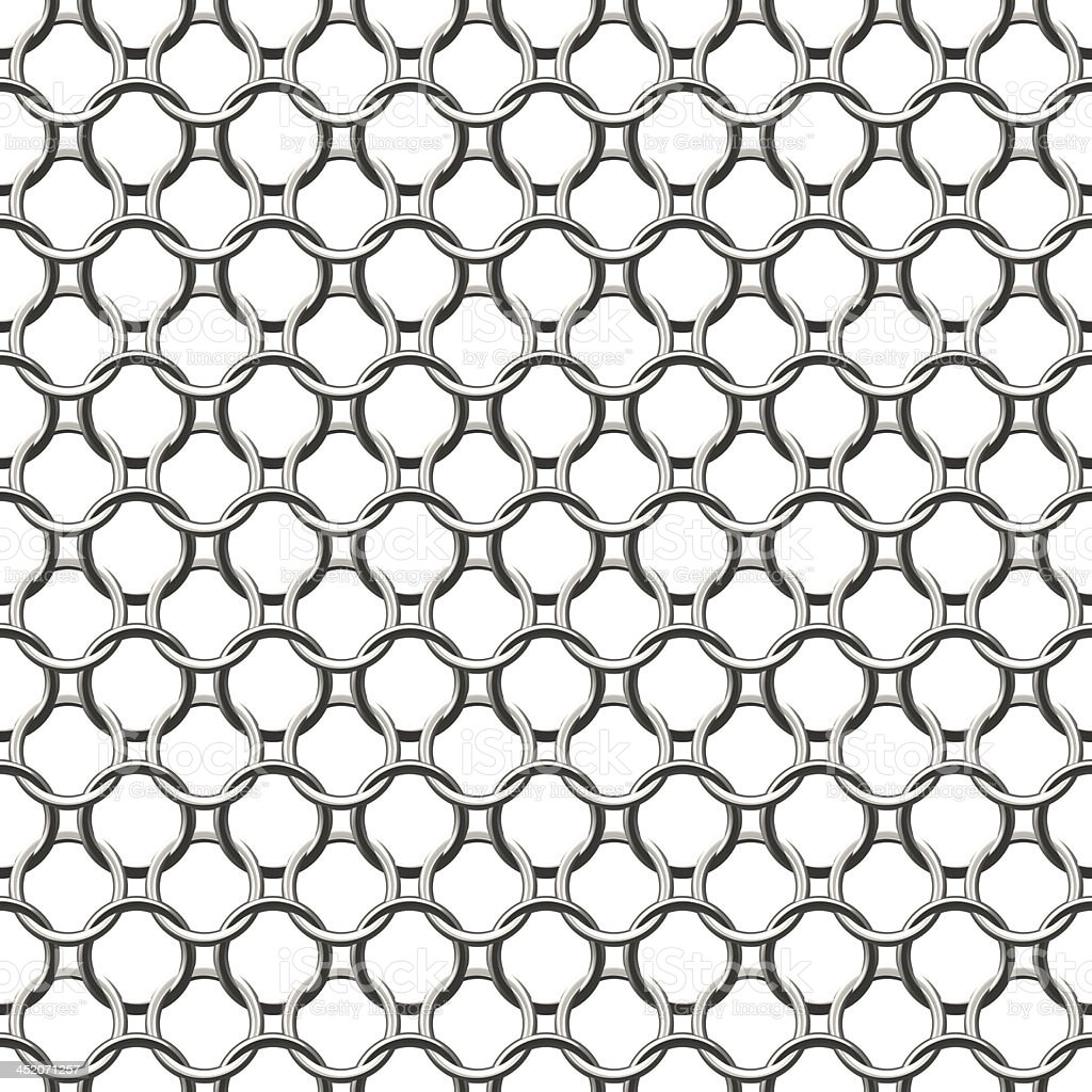 Chain Round Silver - Seamless Texture stock photo