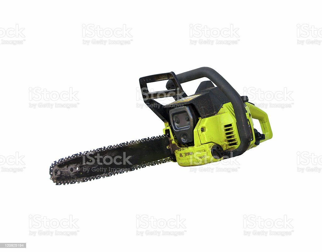 Chain Saw Isolated royalty-free stock photo