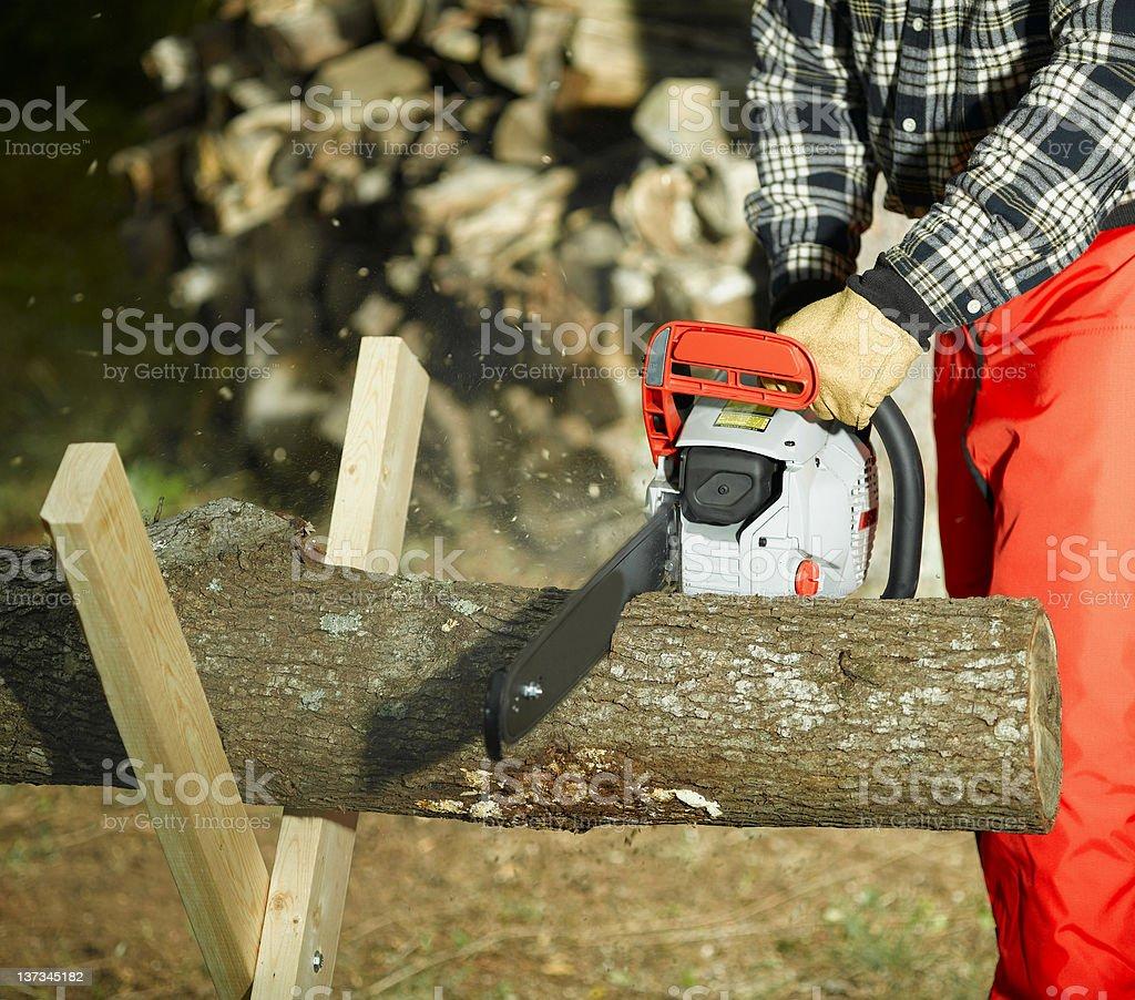 Chain saw royalty-free stock photo