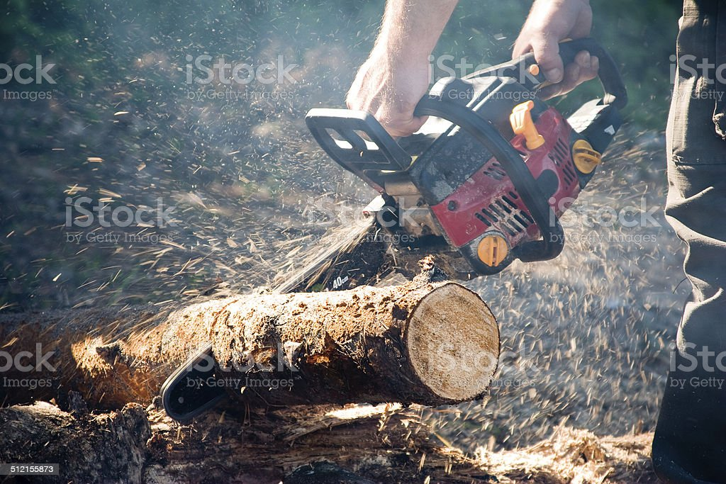 Chain saw stock photo