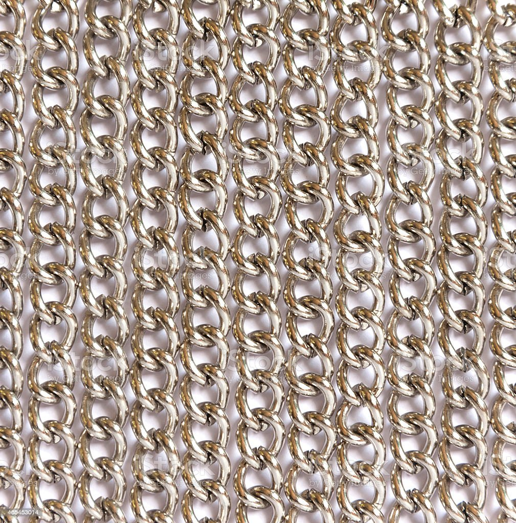 Chain silver color royalty-free stock photo