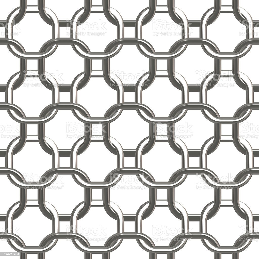 Chain Silver Small - Seamless Texture stock photo