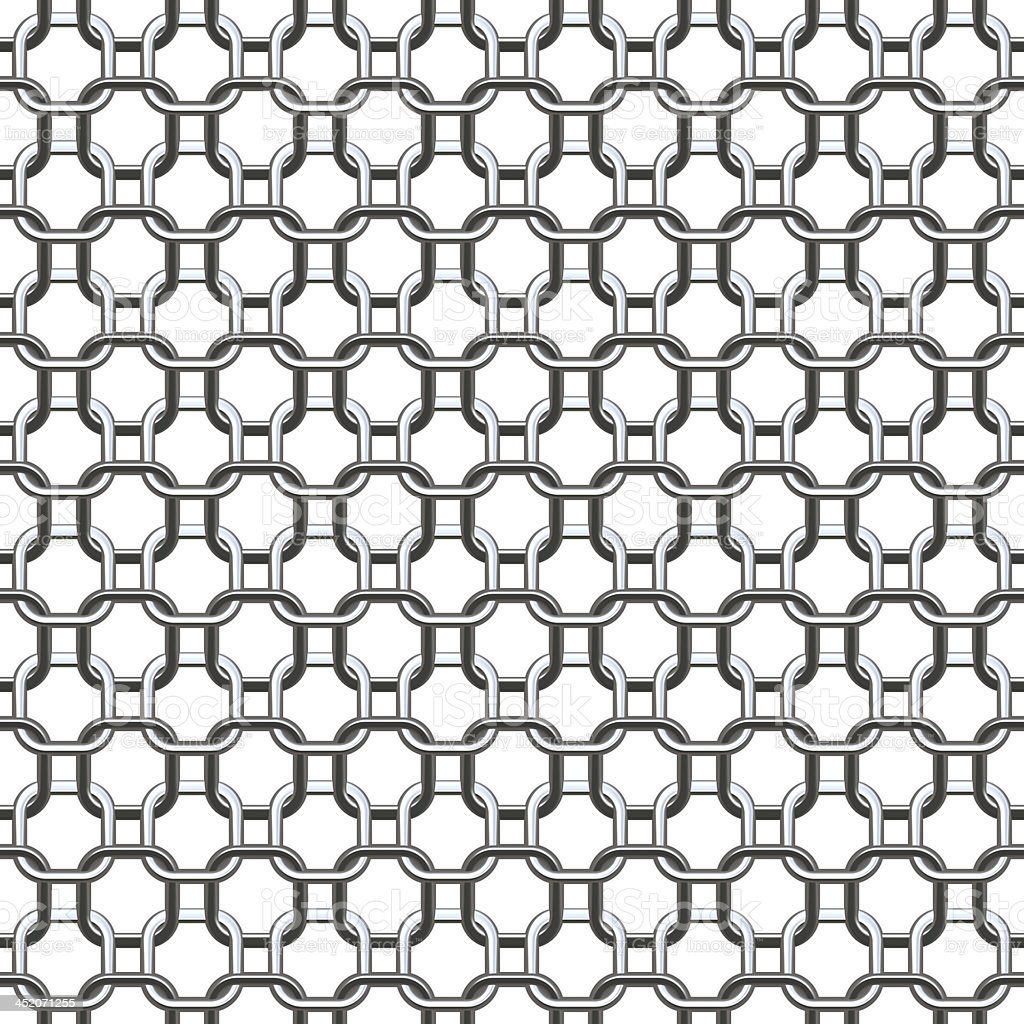 Chain Silver Small - Seamless Texture royalty-free stock photo