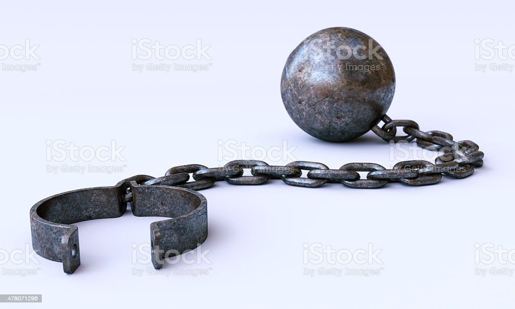 Chain-and-ball A02 stock photo