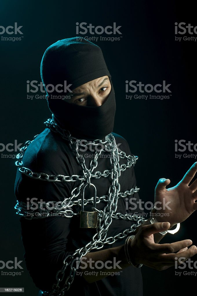 Chained royalty-free stock photo