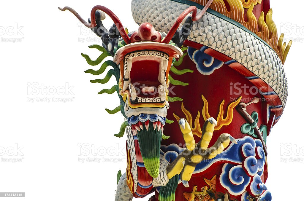 Chainees Dragon Statue royalty-free stock photo