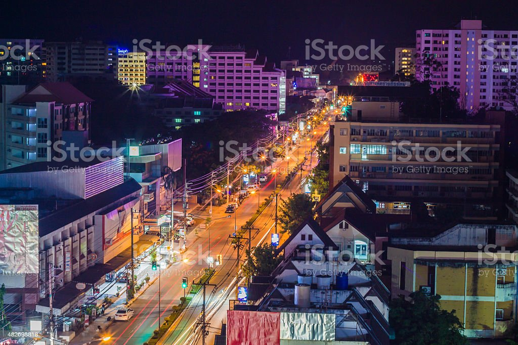 ChaingMai city light stock photo