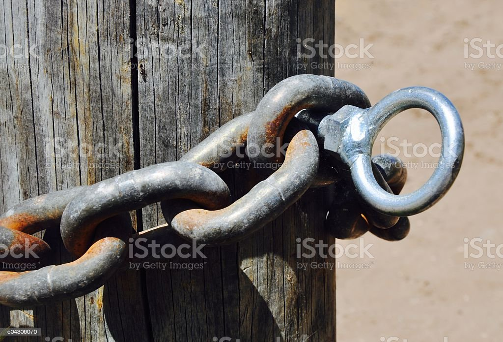 Chainlink and Eyebolt stock photo