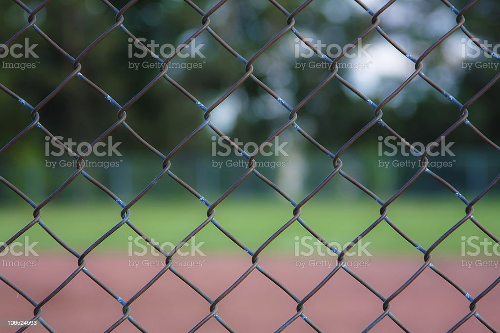 Chainlink fence background stock photo