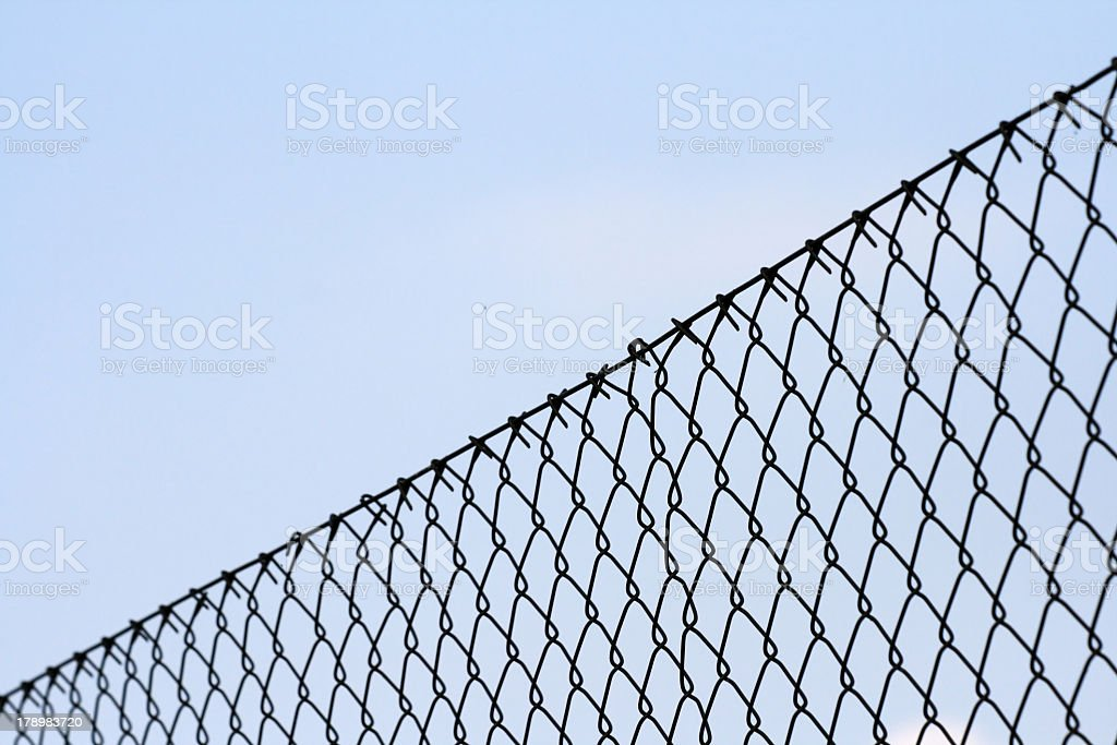 Chainlink fence - depth of field stock photo