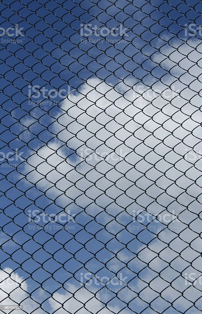 Chainlink fence royalty-free stock photo