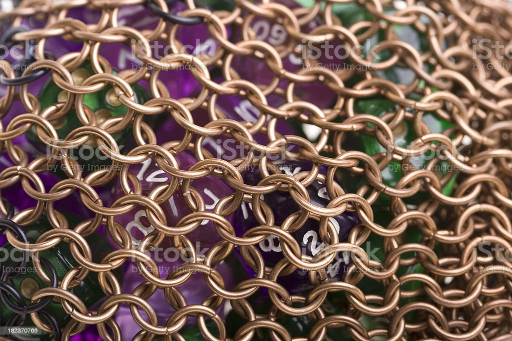 Chainmail dicebag royalty-free stock photo