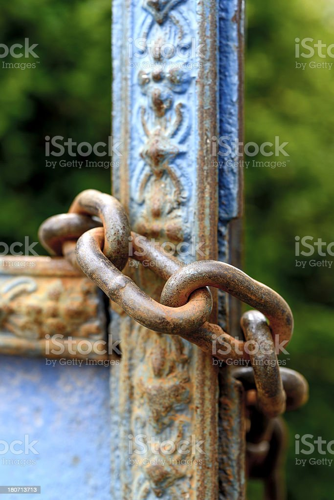 Chains and Door royalty-free stock photo