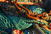 chains and fish trawl