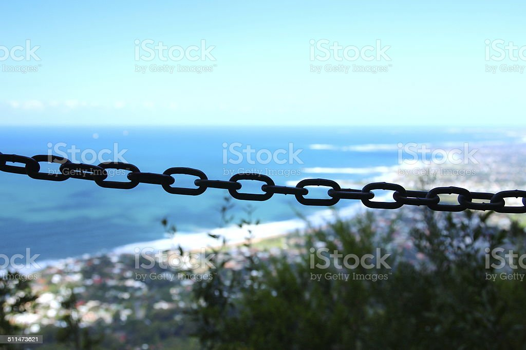 Chains and views stock photo