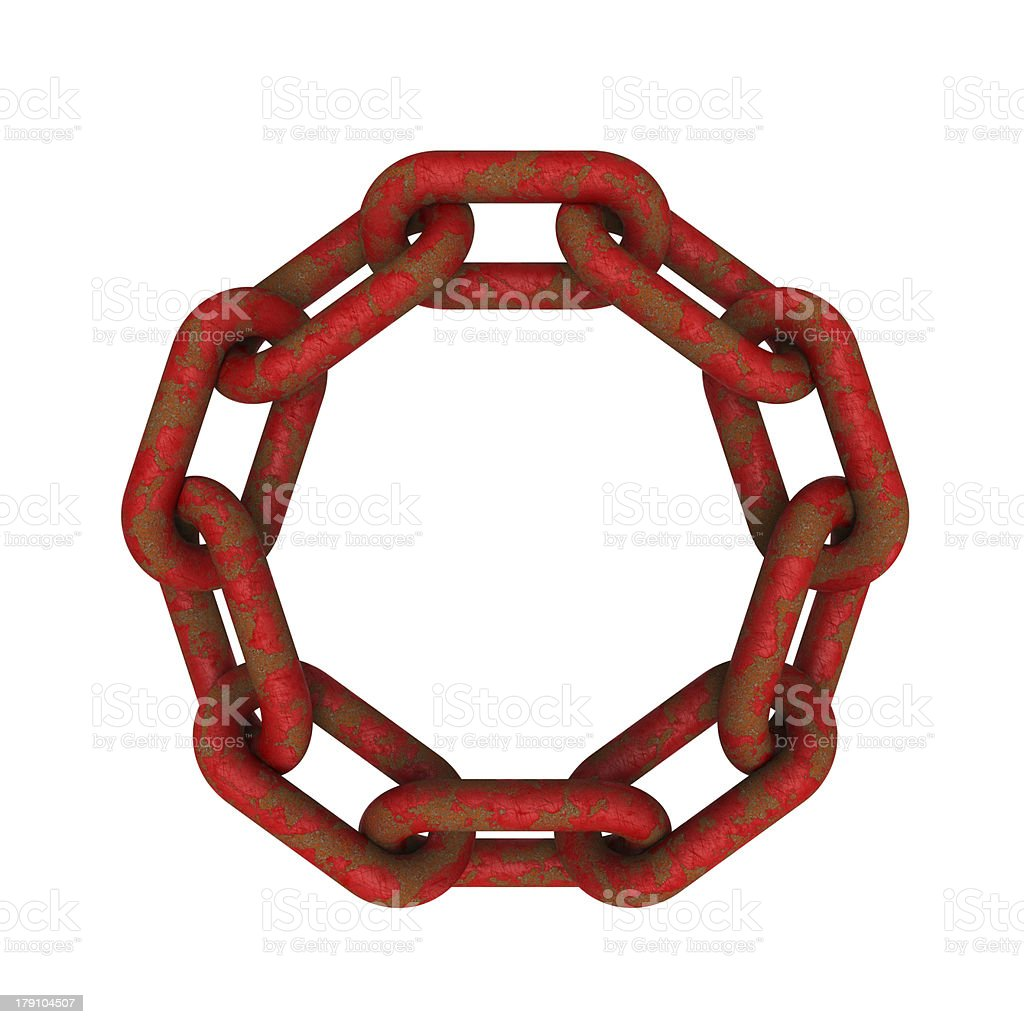 Chains connected stock photo