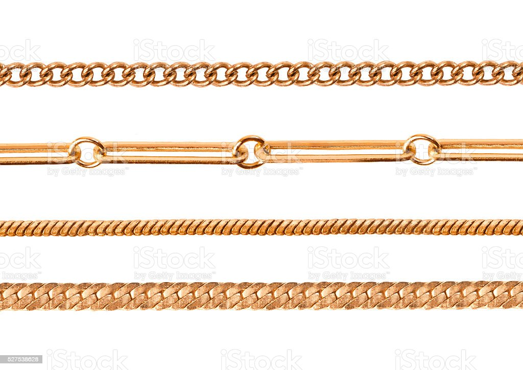 Chains on a white background stock photo