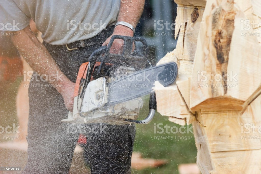 Chainsaw 1 royalty-free stock photo