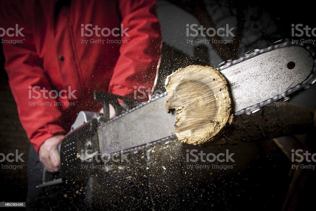 Chainsaw blade stock photo