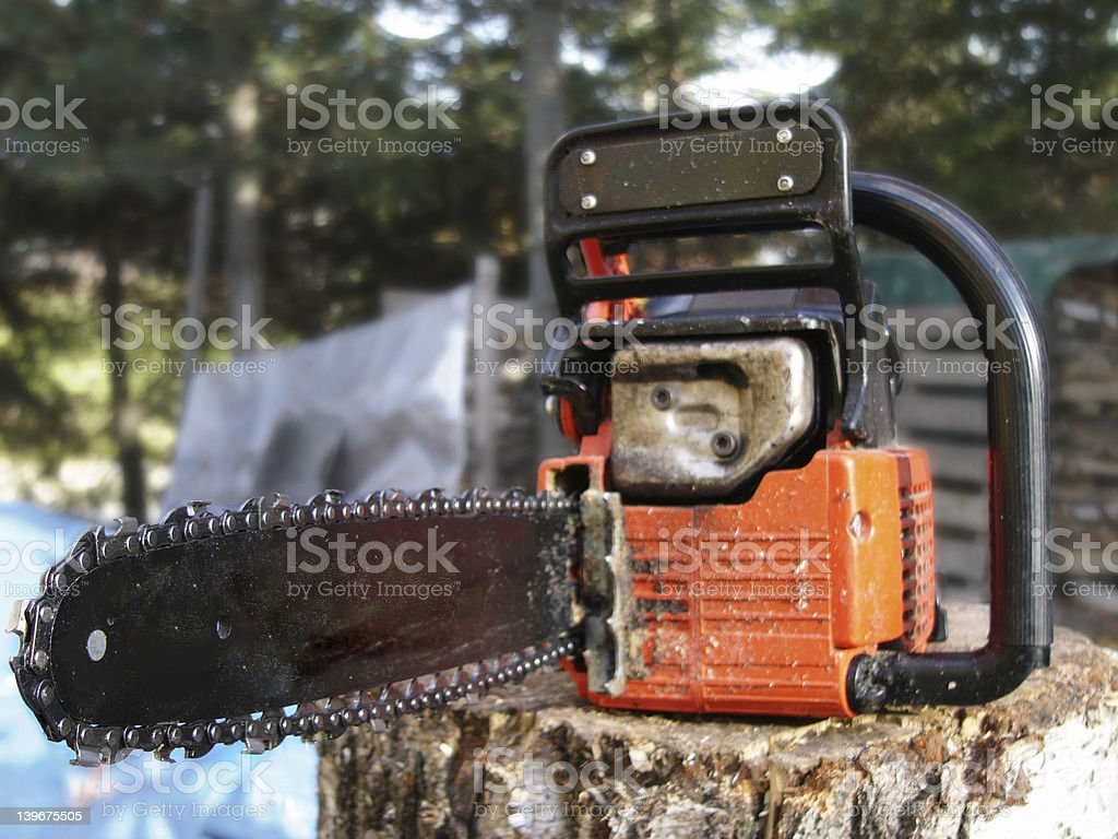 Chainsaw blues royalty-free stock photo