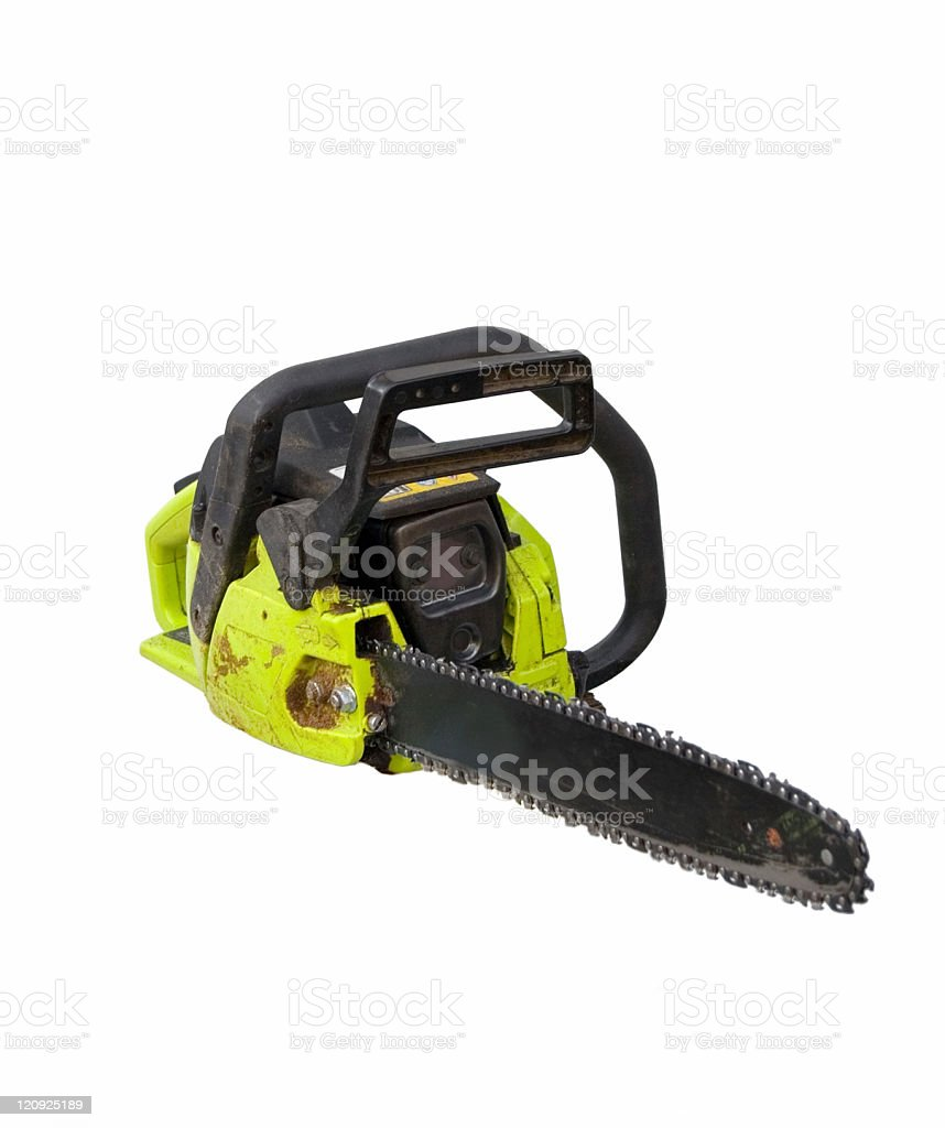 Chainsaw Isolated on White royalty-free stock photo