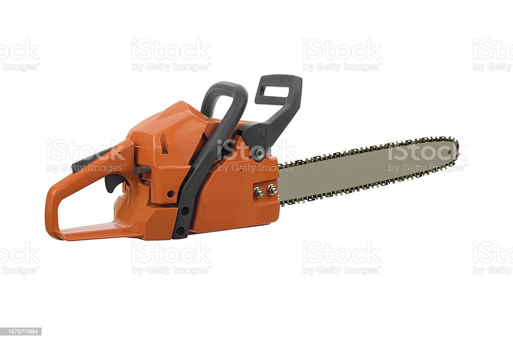 Chainsaw Isolated royalty-free stock photo