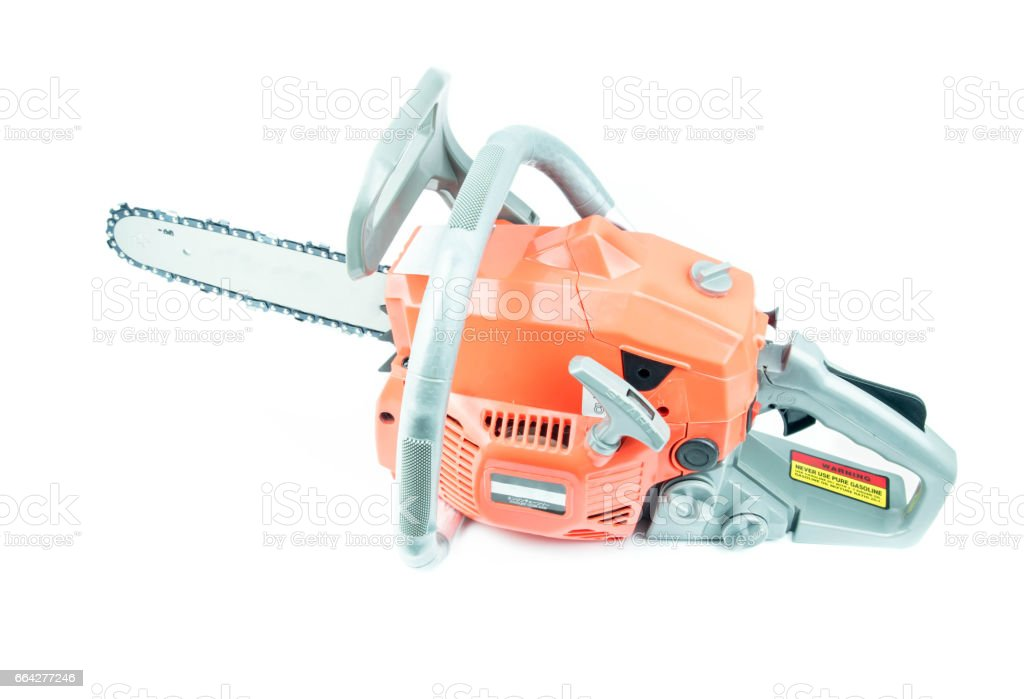 chainsaw  on white background stock photo
