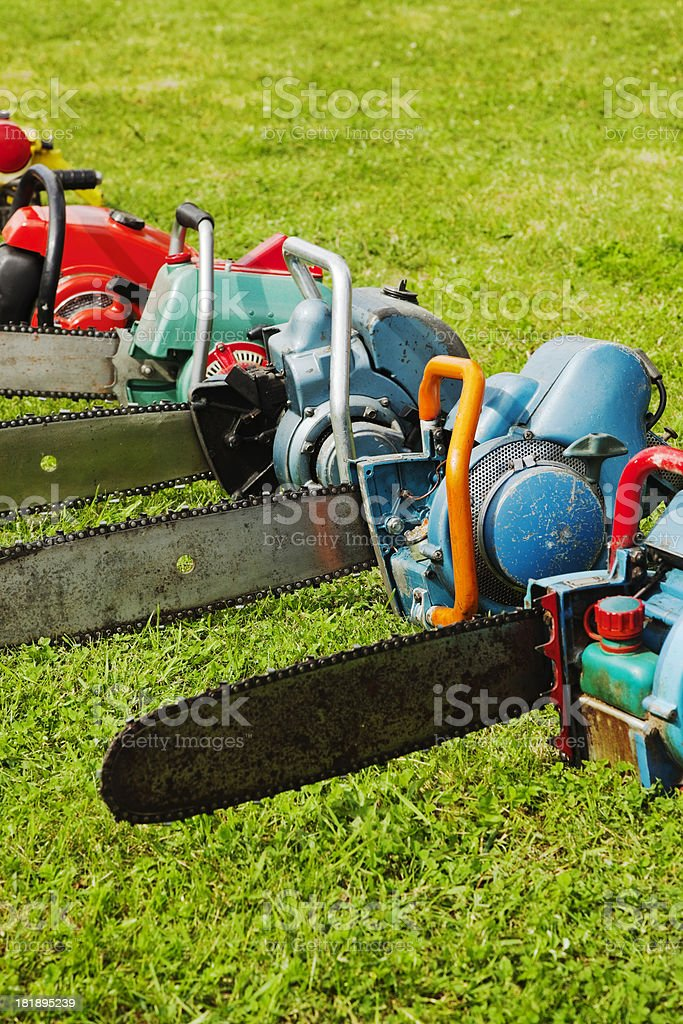 Chainsaw. royalty-free stock photo