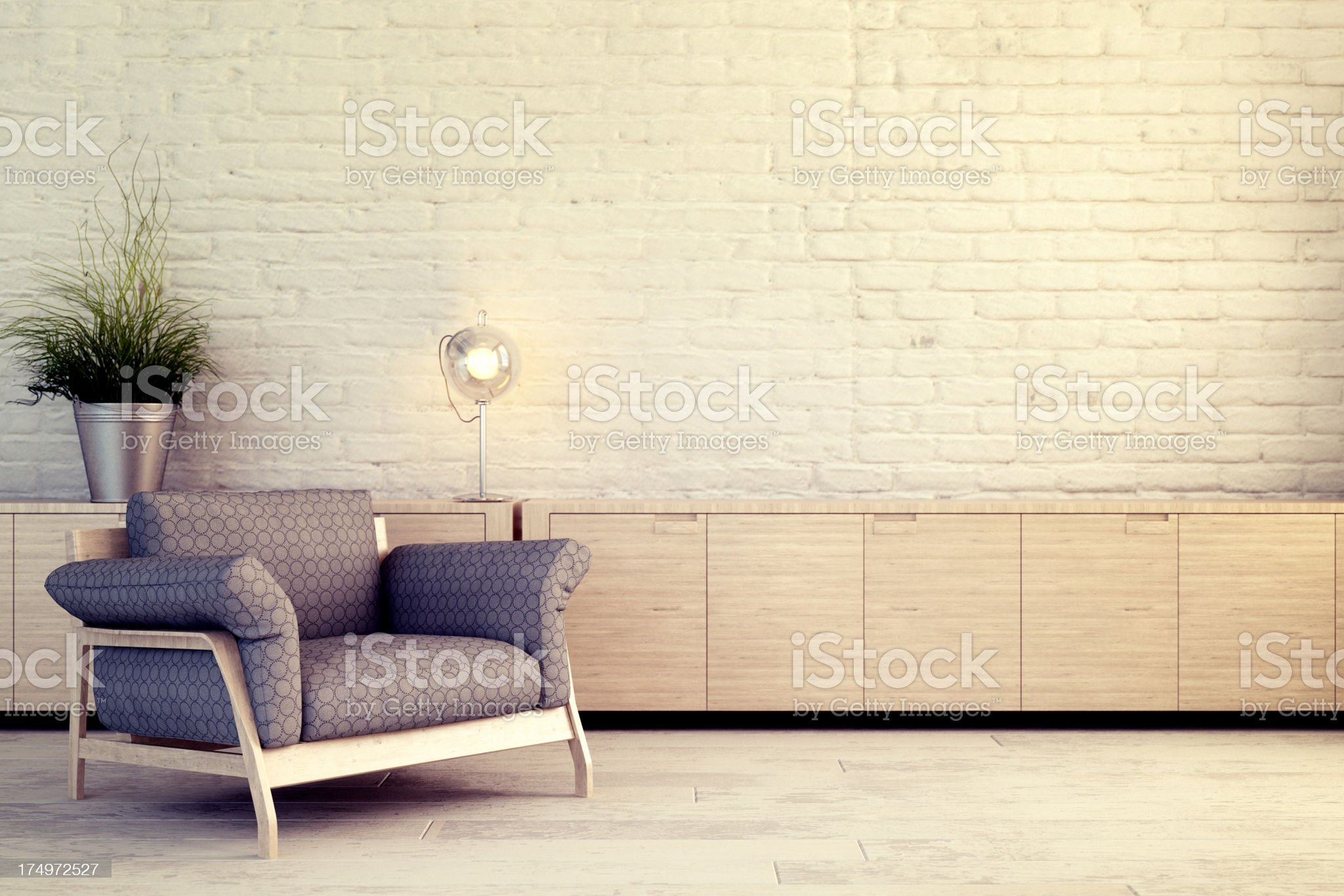Chair against white wall royalty-free stock photo