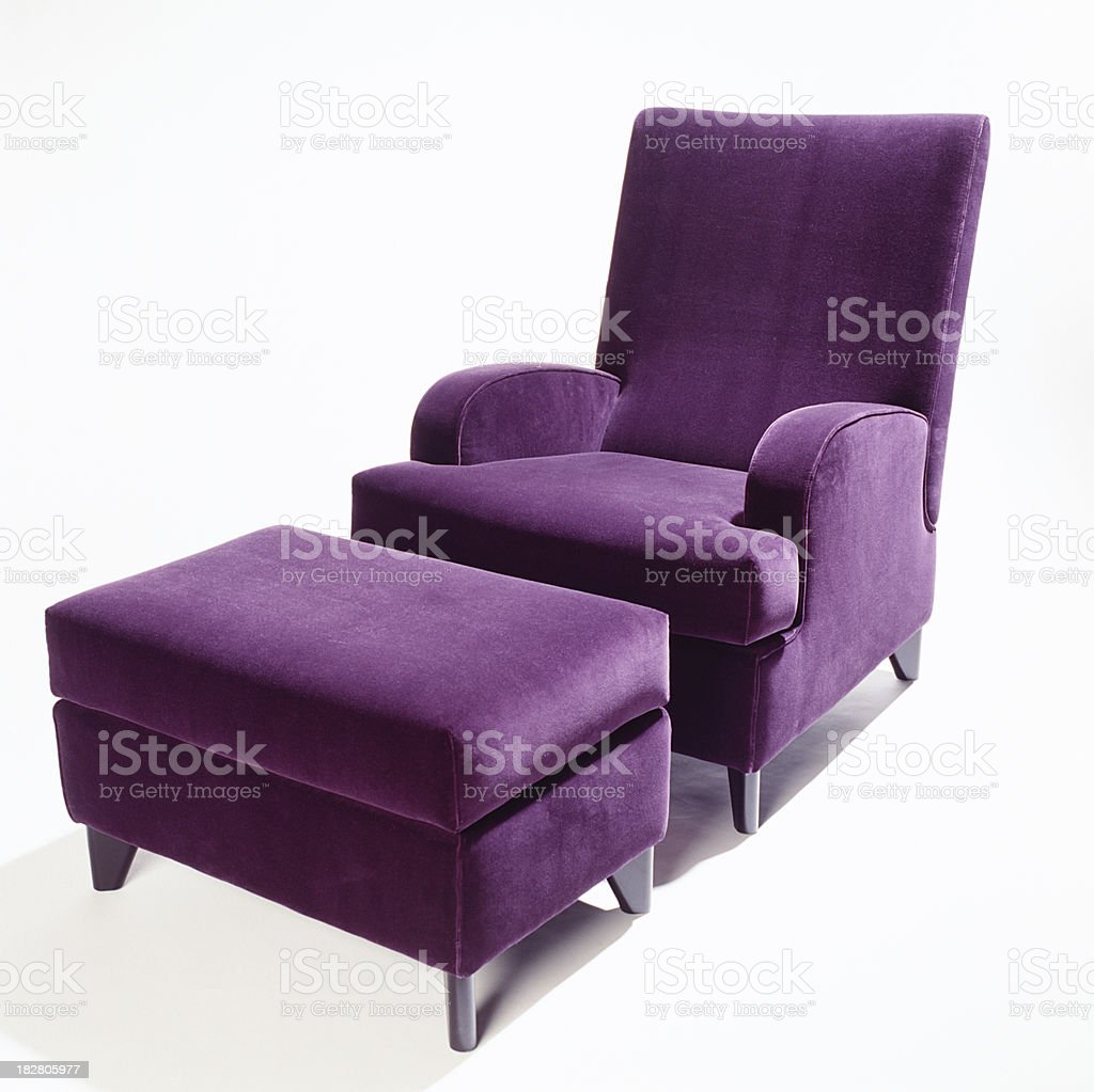 Chair and footstool royalty-free stock photo