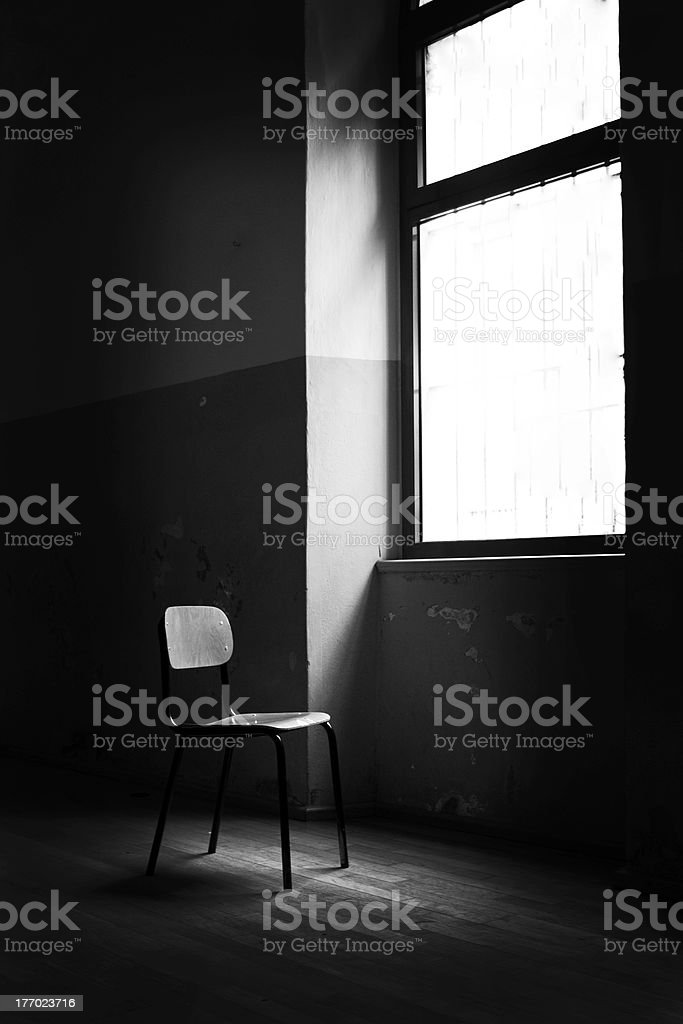 chair and light stock photo