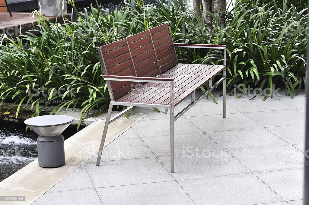 chair and plant decor royalty-free stock photo