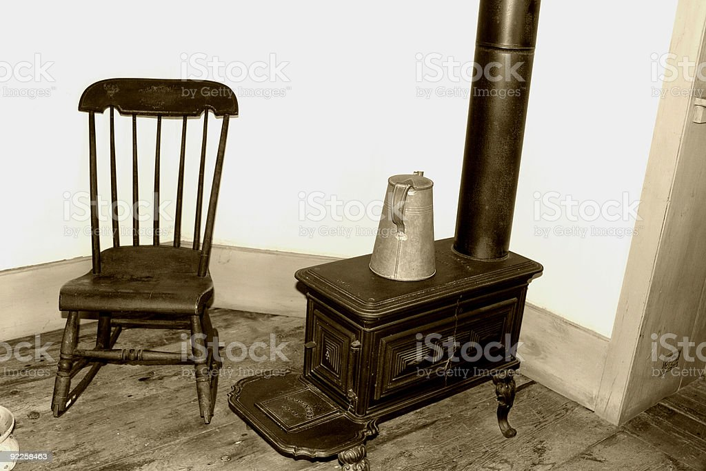 Chair and Stove royalty-free stock photo