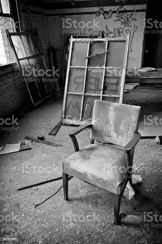 Chair and Window Frames stock photo