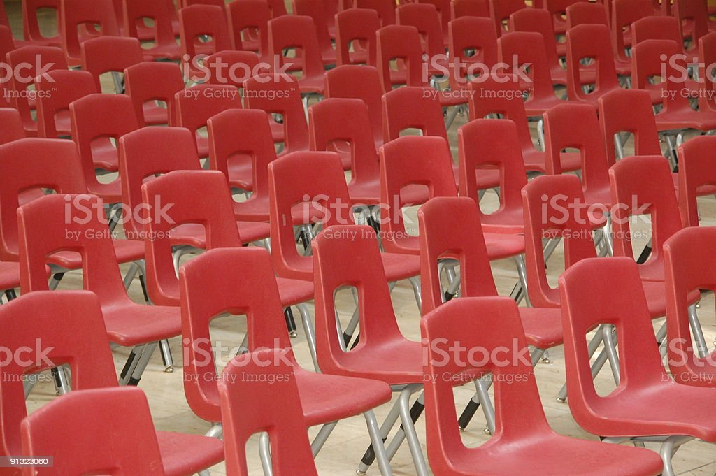 Chair arrangement royalty-free stock photo