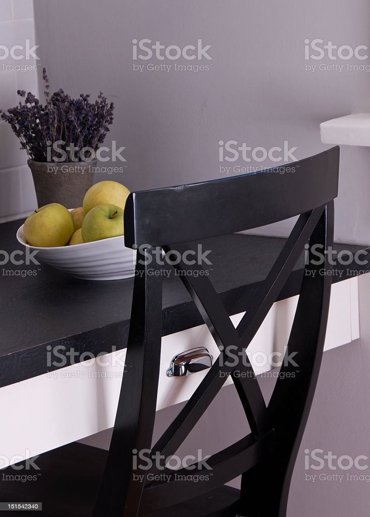Chair at desk royalty-free stock photo