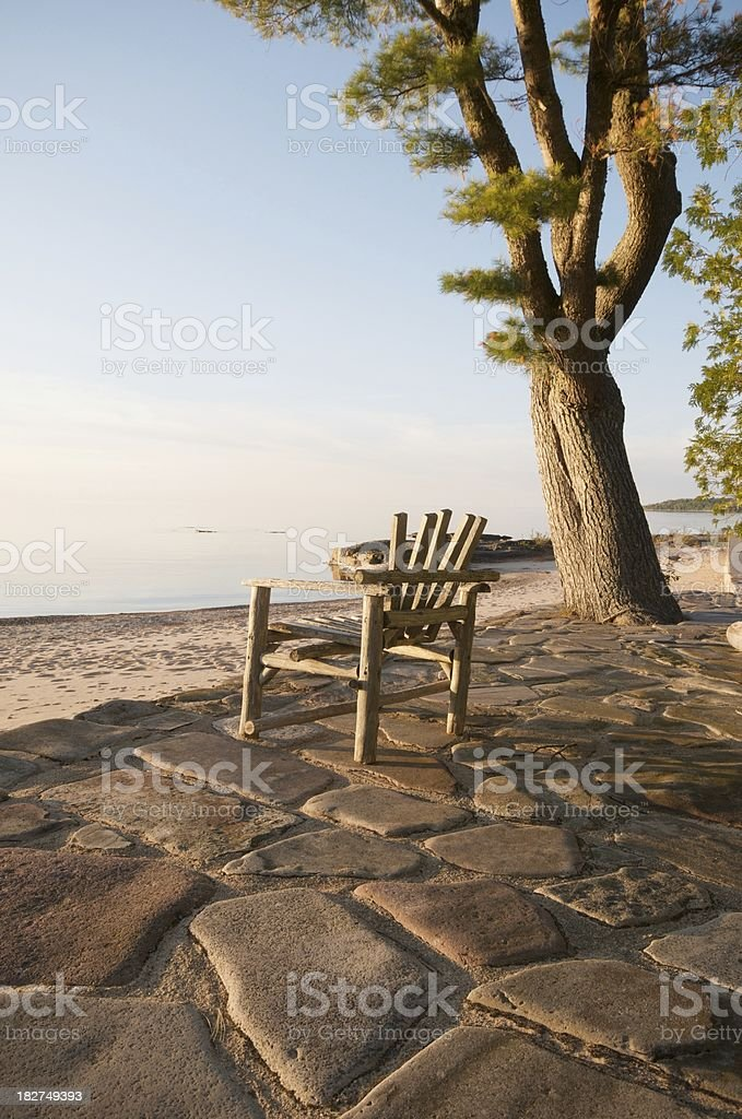 Chair at Lake royalty-free stock photo