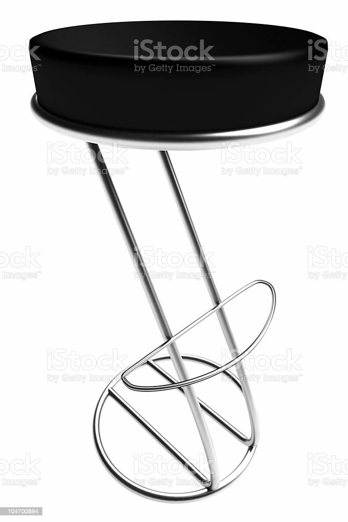 3D Chair - Black royalty-free stock photo
