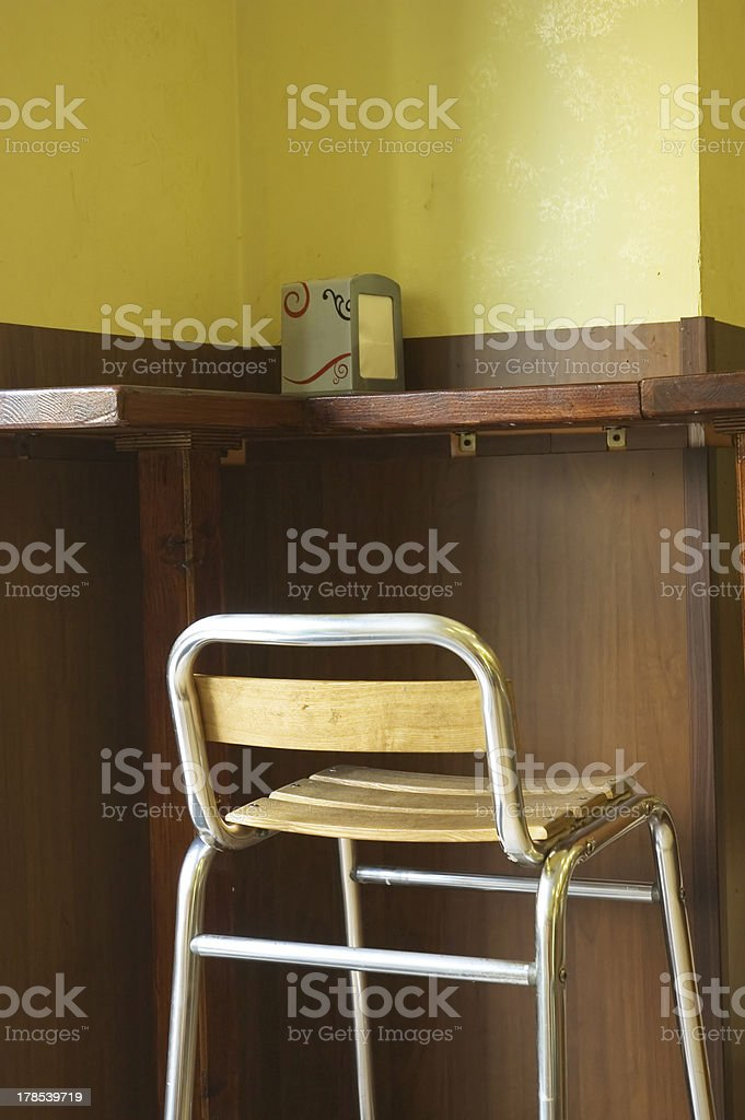 chair in a cafe royalty-free stock photo