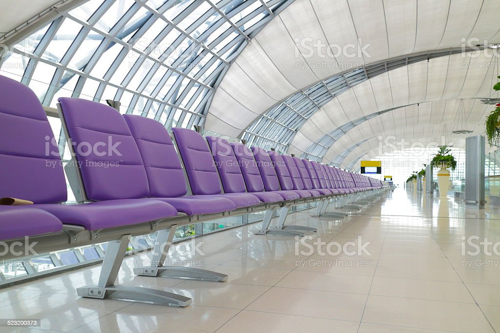 Chair in airport stock photo
