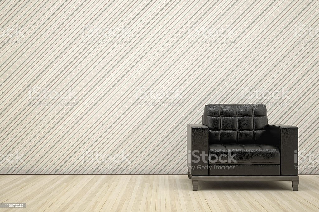 chair in black leather royalty-free stock photo