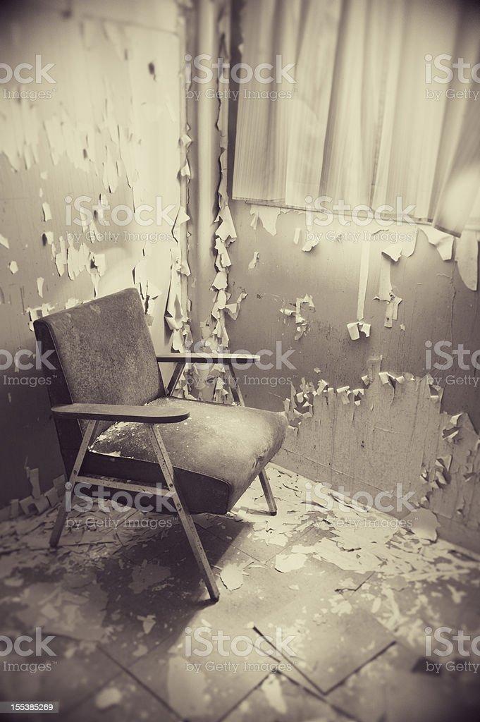 Chair in Corner stock photo