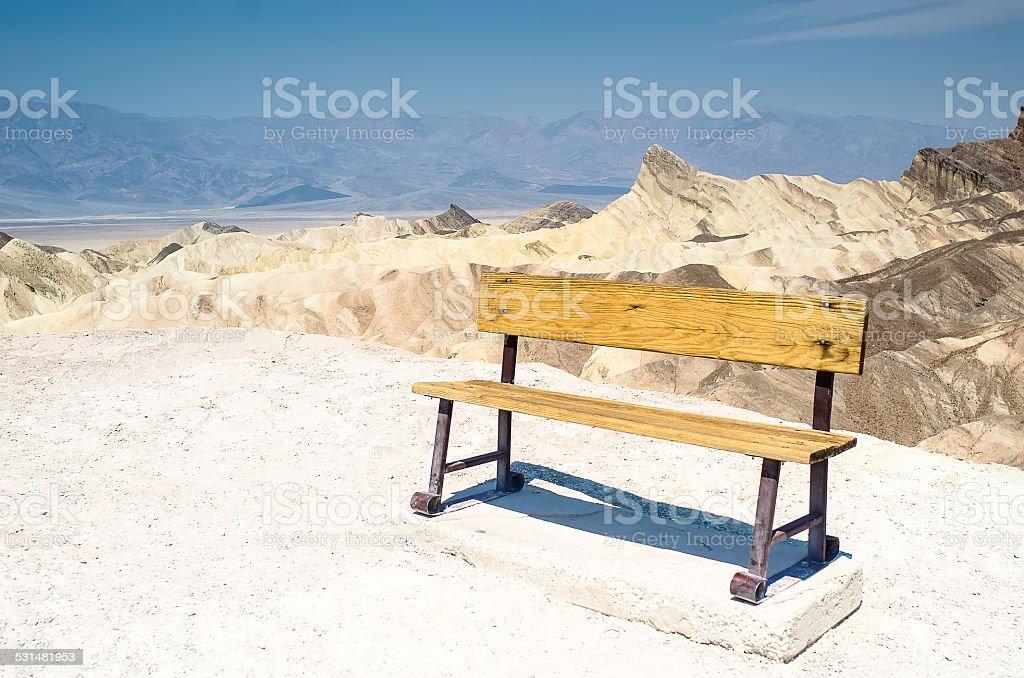 Cadeira no Vale da Morte foto royalty-free