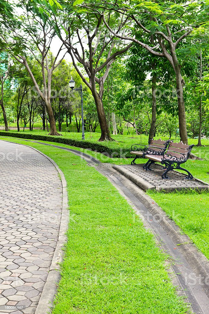 Sedia nel parco foto stock royalty-free