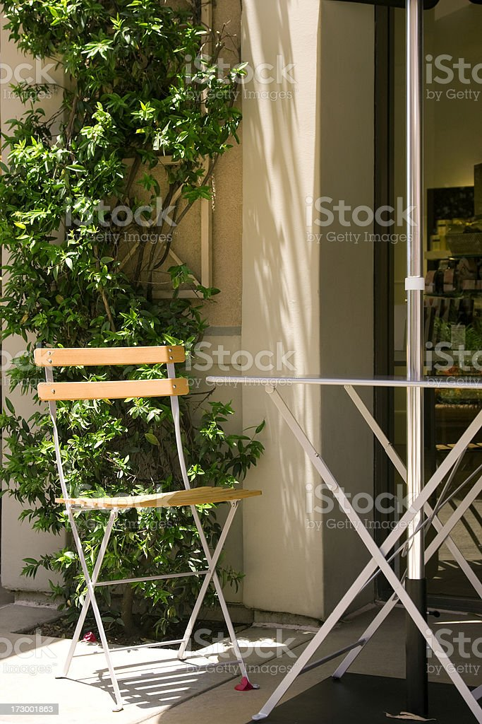 Chair In The Sun stock photo