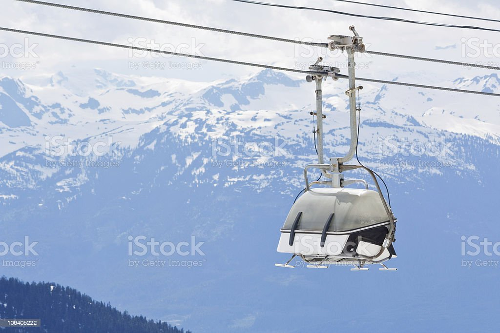 Chair lift at Whistler Peak British Columbia royalty-free stock photo