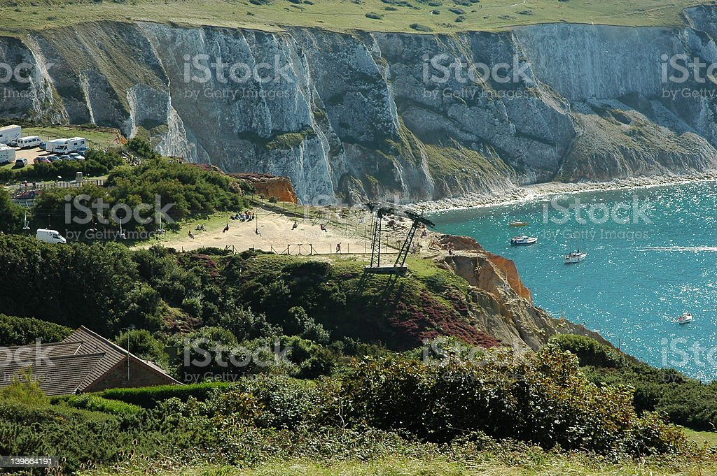 Chair Lift, Isle of Wight royalty-free stock photo